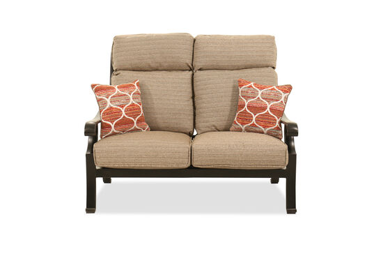 Aluminum Loveseat in Brown