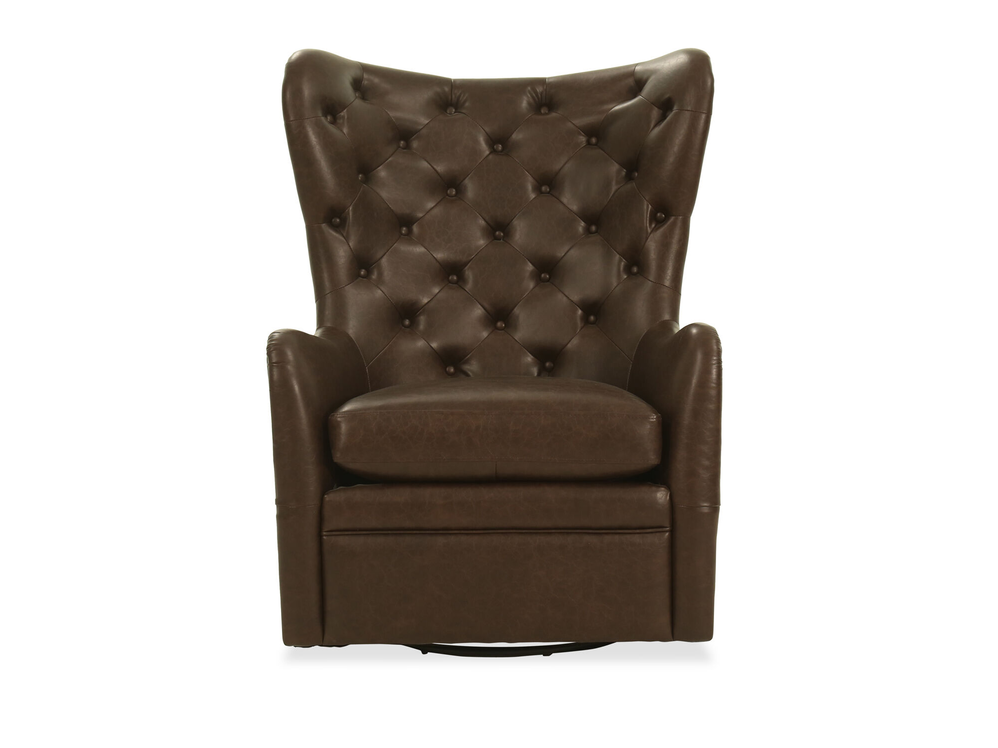 Attrayant Contemporary Leather Swivel Chair In Brown ...
