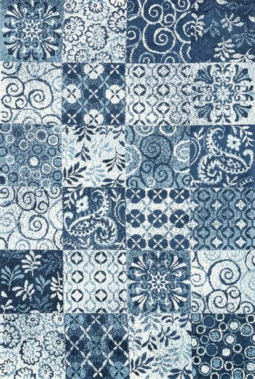 "Transitional 3'-6""x5'-6"" Rug in Blue"