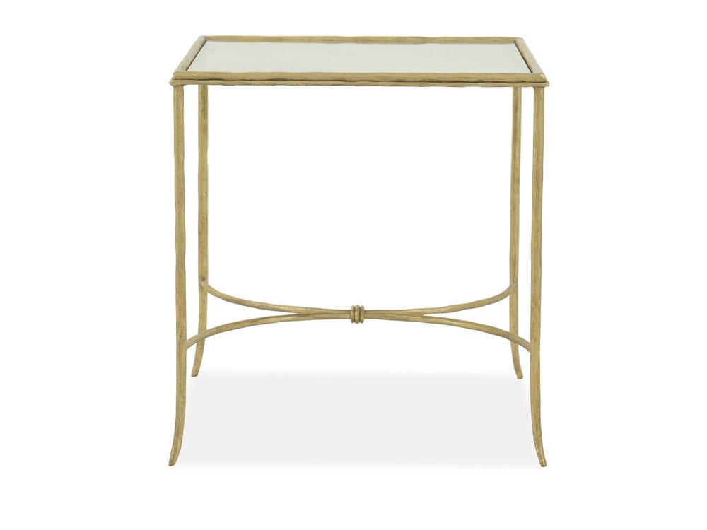 Rectangular End Table in Gold Leaf