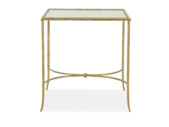 Rectangular End Table in Gold Leaf