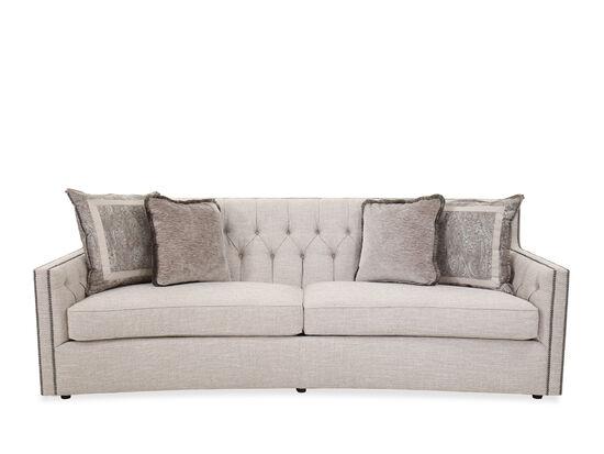 Button-Tufted Contemporary 96'' Sofa in Beige