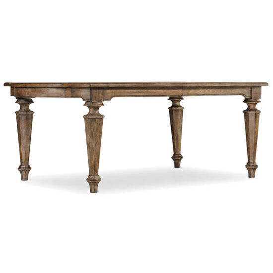 """Solana Rectangle Dining Table W/2-18"""" Leaves in Light Wood"""