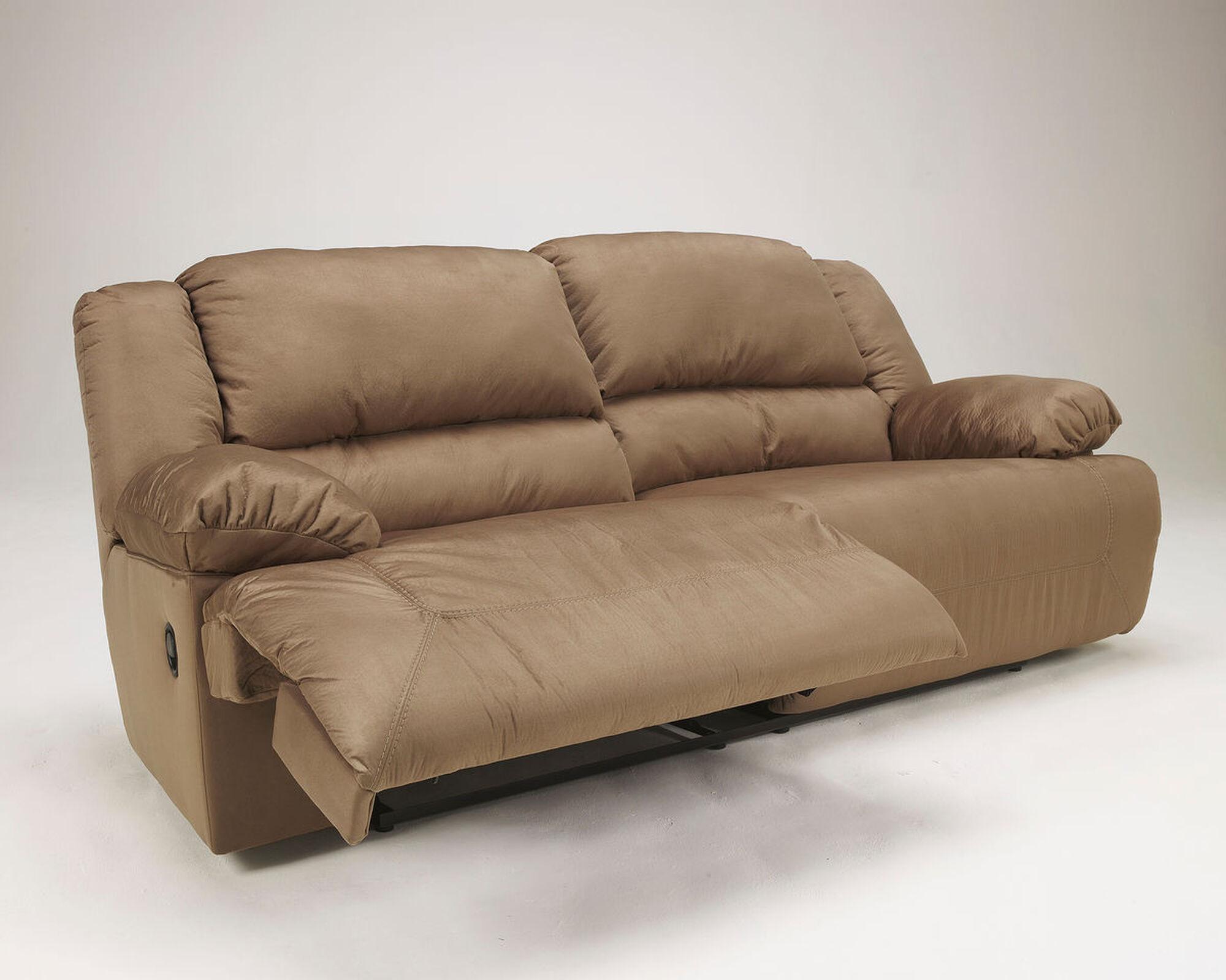 "Contemporary Microfiber 96"" Reclining Sofa in Mocha ..."
