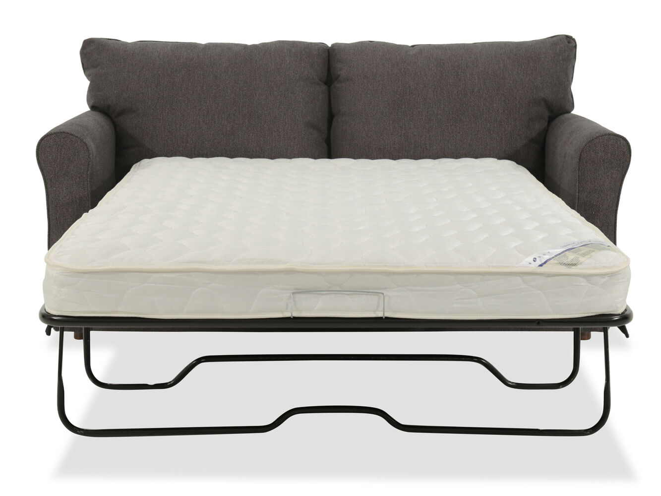 casual 73 5 full sleeper sofa in gray mathis brothers furniture. Black Bedroom Furniture Sets. Home Design Ideas
