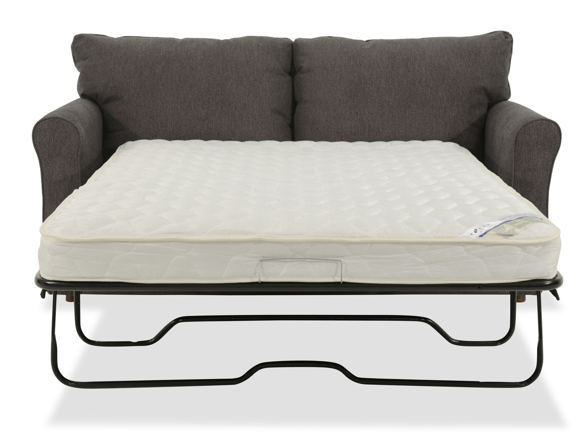 lazboy leah premier supreme comfort gray full sleeper sofa