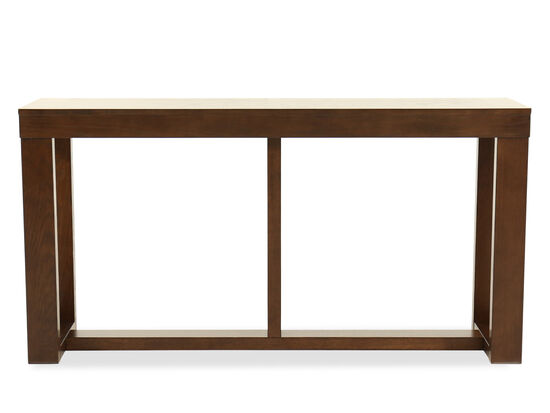 Rectangular Contemporary Sofa Table in Dark Merlot