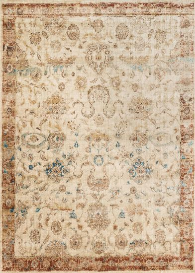 "Transitional 2'-7""x4' Rug in Ant Ivory/Rust"