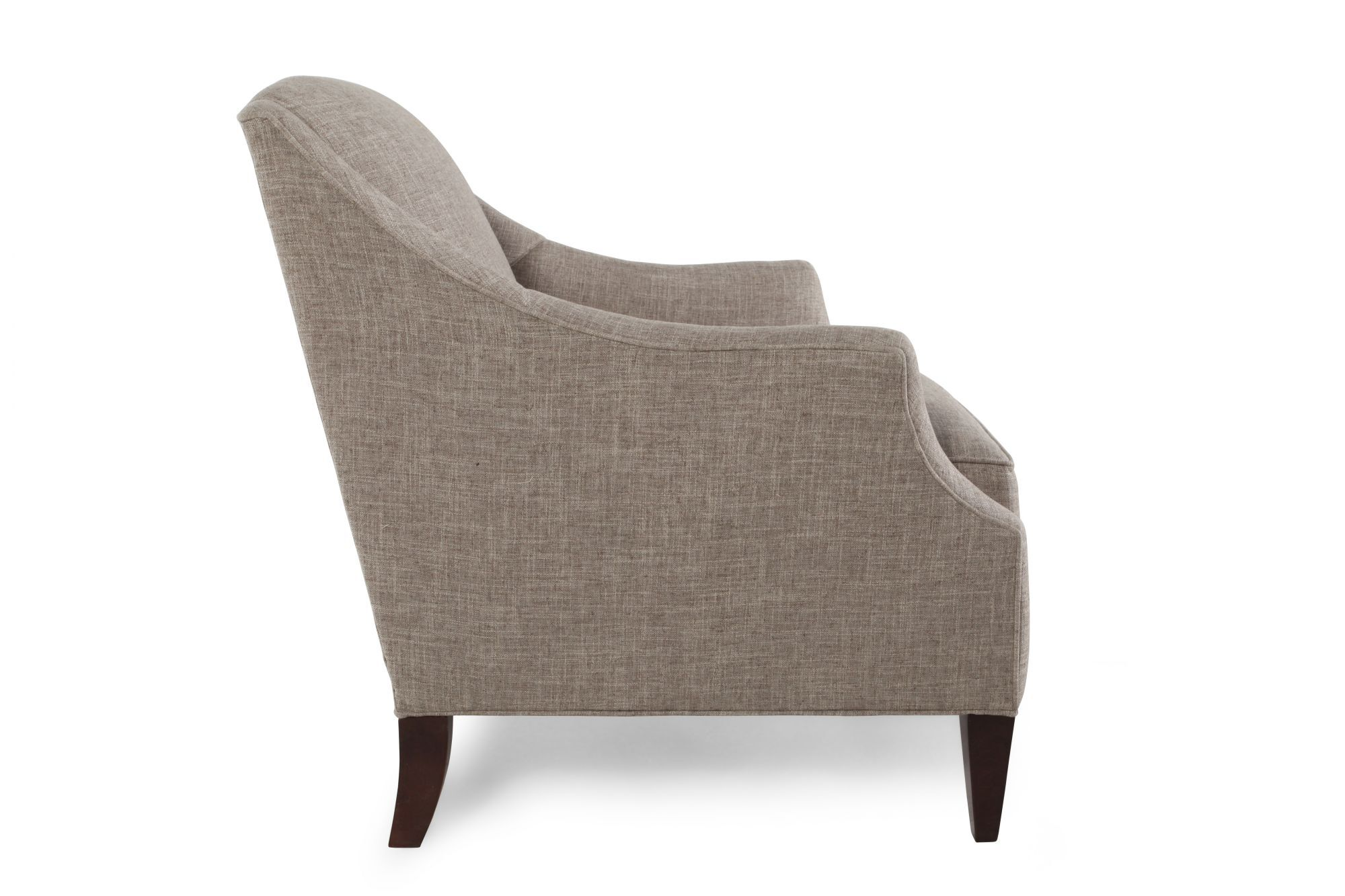... Sloped Arm Club Chair In Gray ...