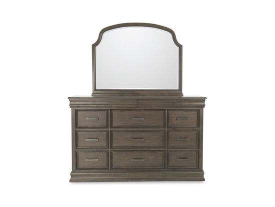 Two-Piece Traditional Dresser and Mirror in Cherry
