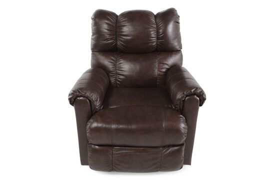 "Contemporary 36"" Power Rocker Recliner in Cocoa Brown"