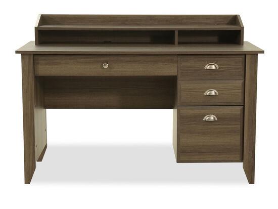 53 Casual Three Drawer Desk In Diamond Ash