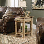 Lodge Log Traditional Side Table in Craftsman Oak