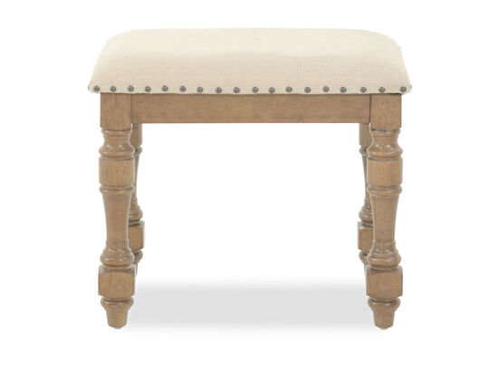 "Contemporary 22"" Vanity Bench in Beige"