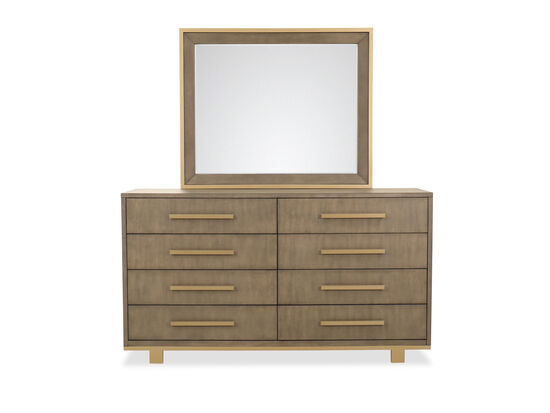 Transitional Dresser & Mirror in Brown