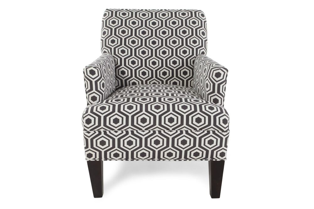 Geometric Patterned Chair In Dark Gray Mathis Brothers Furniture Inspiration Patterned Chair