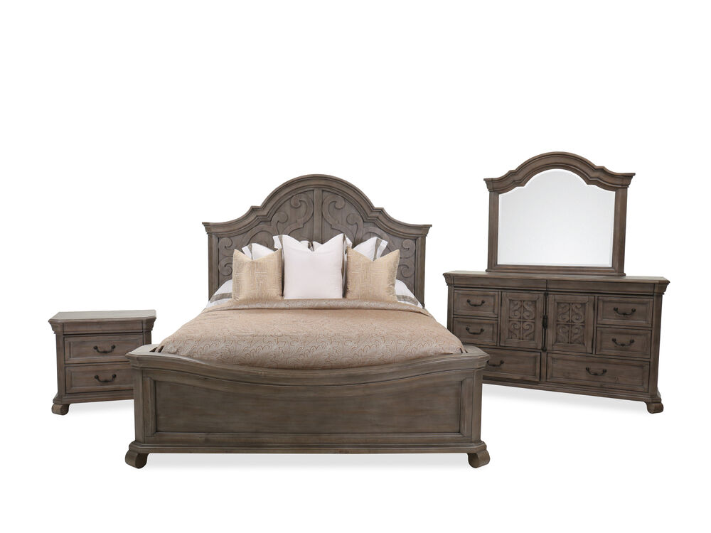 Four-Piece European Classic Bedroom Suite in Dove Tail Gray ...
