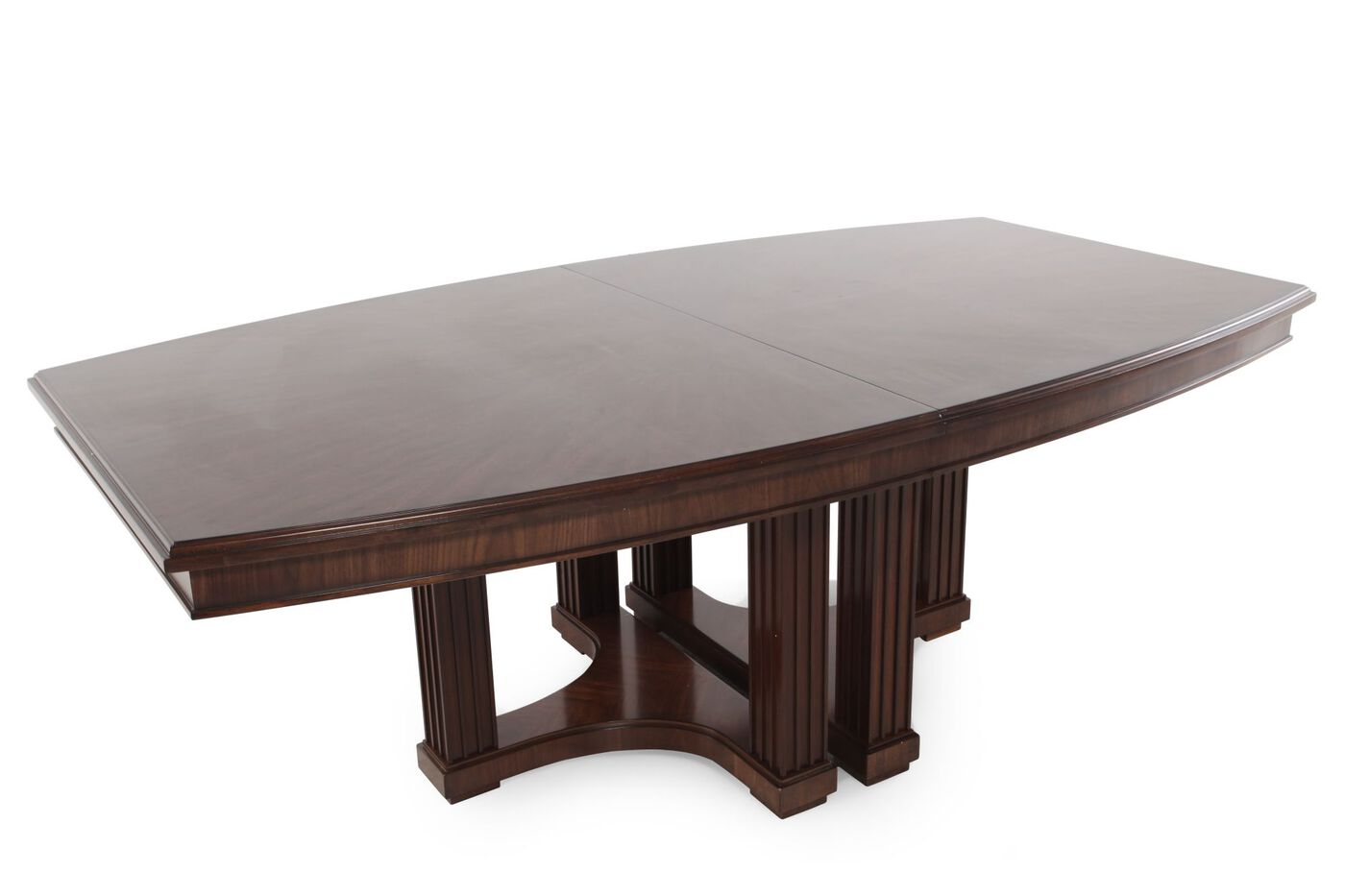 Contemporary 48 to 95 double pedestal dining table in for Dining room table 36 x 48