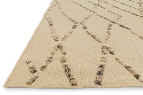 "Transitional 7'-9""x9'-9"" Rug in White Sand"