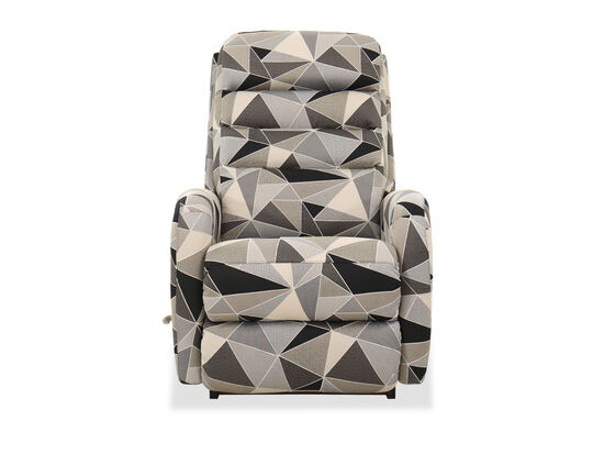 "Geometric-Patterned 33"" Rocker Recliner"