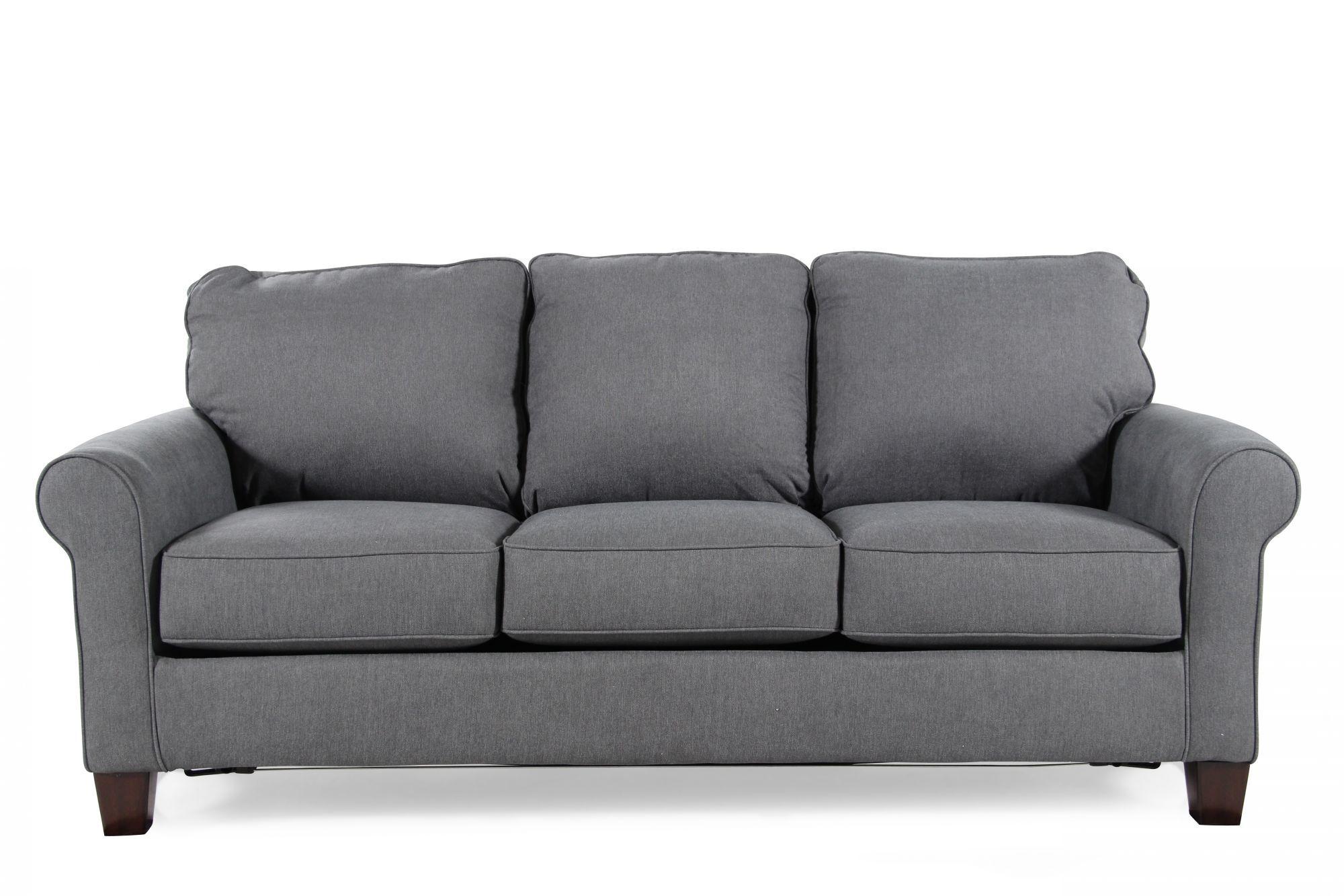 Contemporary 78 Quot Full Sleeper Sofa In Denim Blue Mathis