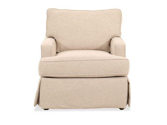 """Traditional 32"""" Chair in Beige"""