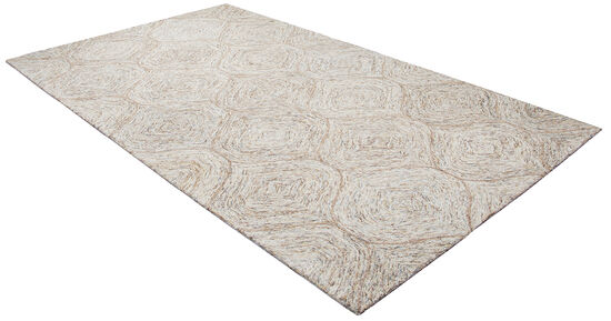 Casual/Transitional Hand-Tufted 8'  x  10' Rectangle Rug in Brown