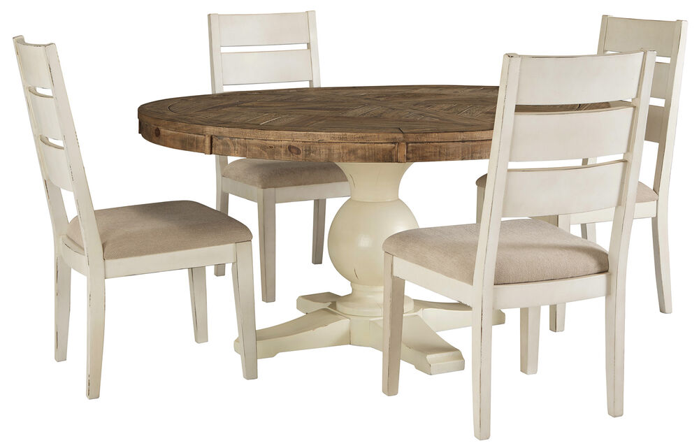 Navy And Gold Dining Room, Grindelburg Dining Table And 4 Chairs Set Mathis Brothers Furniture