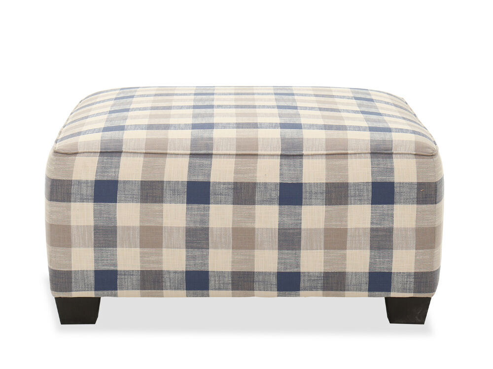 Casual Oversized Ottoman in Nautical