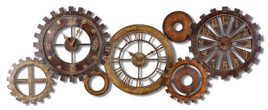 Hand-Forged Spare Parts Wall Clock