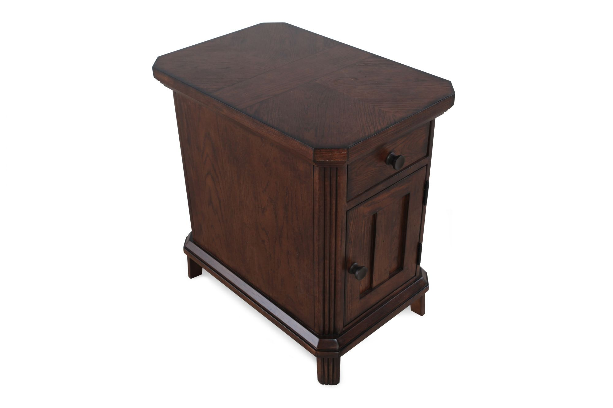 Square Traditional Chairside End Table In Artisan Oak