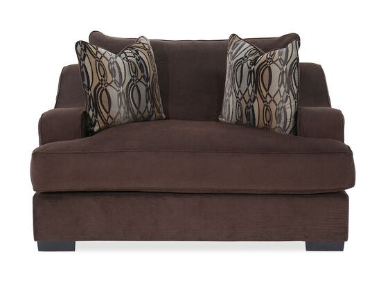 """Traditional 70"""" Chair in Brown"""