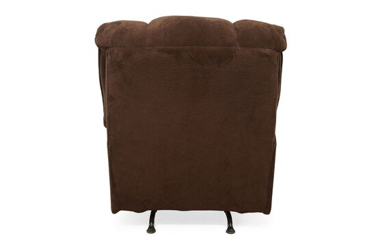 """Traditional 40"""" Rocker Recliner in Chocolate"""
