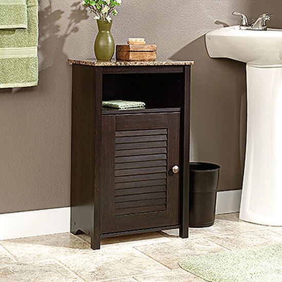 Louver-Detailed Floor Cabinet in Cinnamon Cherry