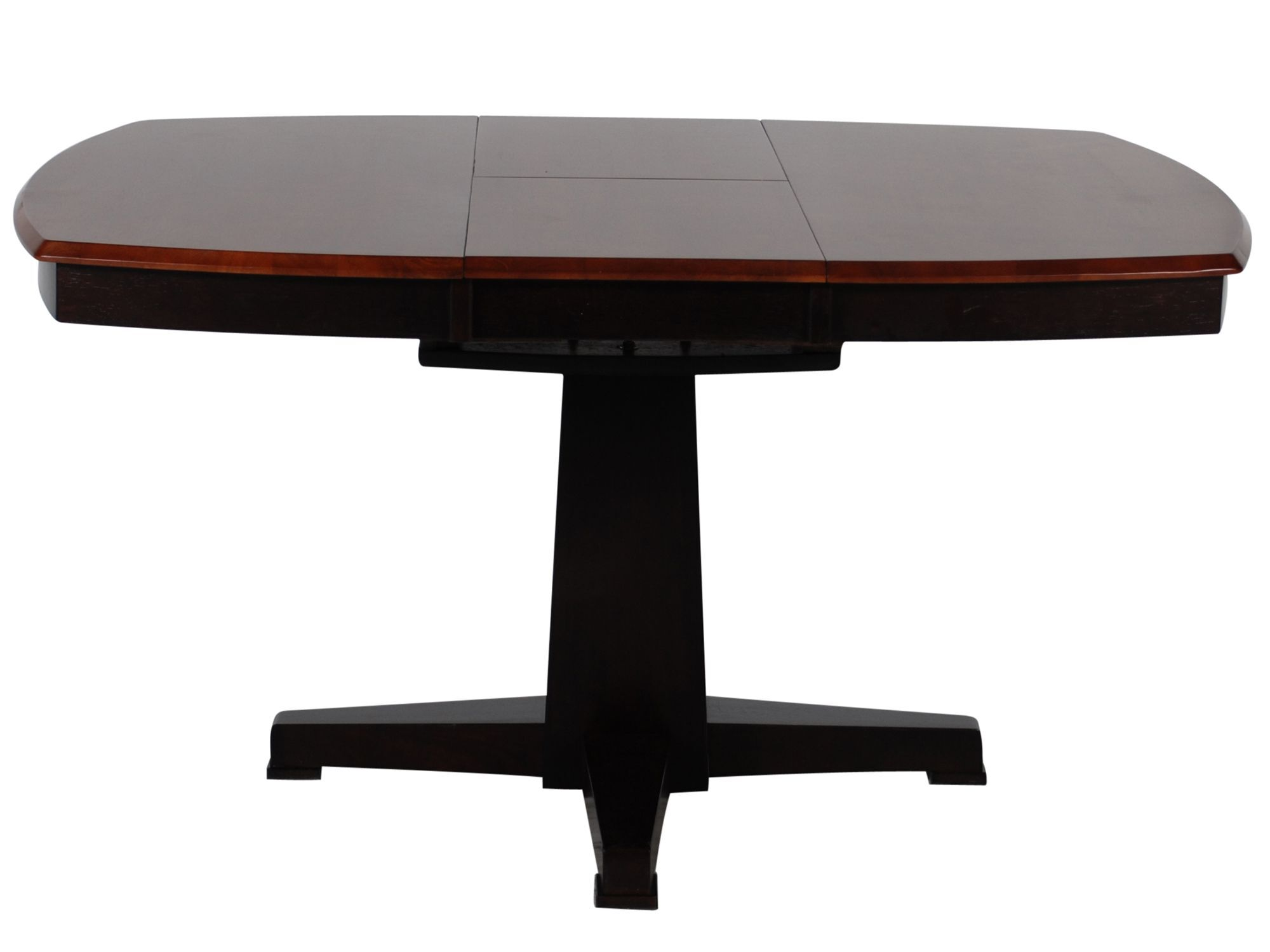 Images Casual Butterfly Leaf 42u0026quot; To 57u0026quot; Pedestal Dining Table In  Espresso Casual Butterfly Leaf 42u0026quot; To 57u0026quot; Pedestal Dining Table  In ...