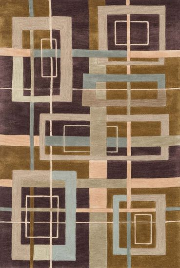 "Contemporary 5'-0""x7'-6"" Rug in Mocha/Multi"