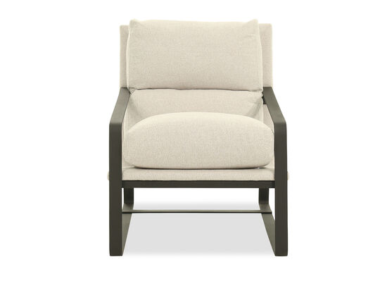 "Textured Casual 28"" Accent Chair in Beige"