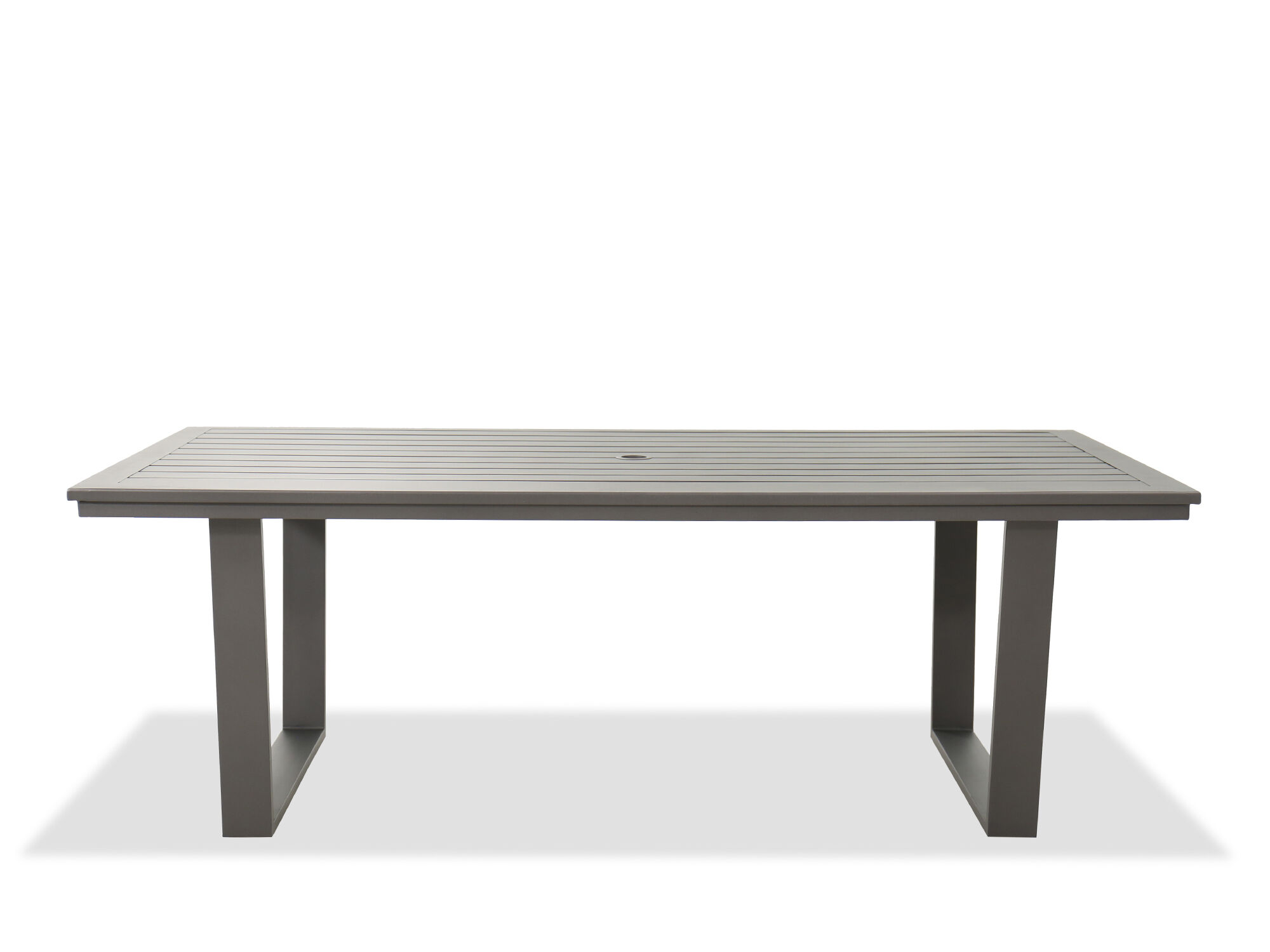 Casual Rectangular Patio Dining Table In Gray | Mathis Brothers Furniture