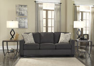 "Ashley Chenille 84"" Sofa in Charcoal"