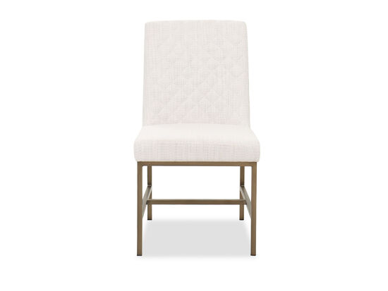 """Casual Diamond-Quilted 35"""" Side Chair in White"""