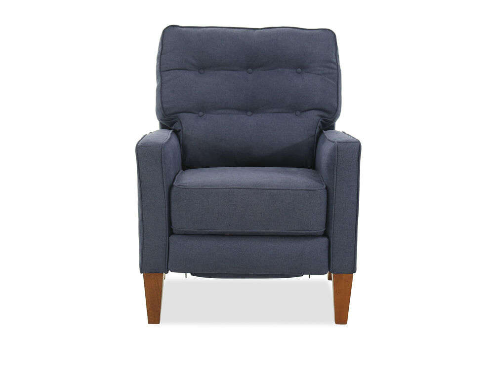 Button Tufted Casual 30 Quot Recliner In Blue Mathis