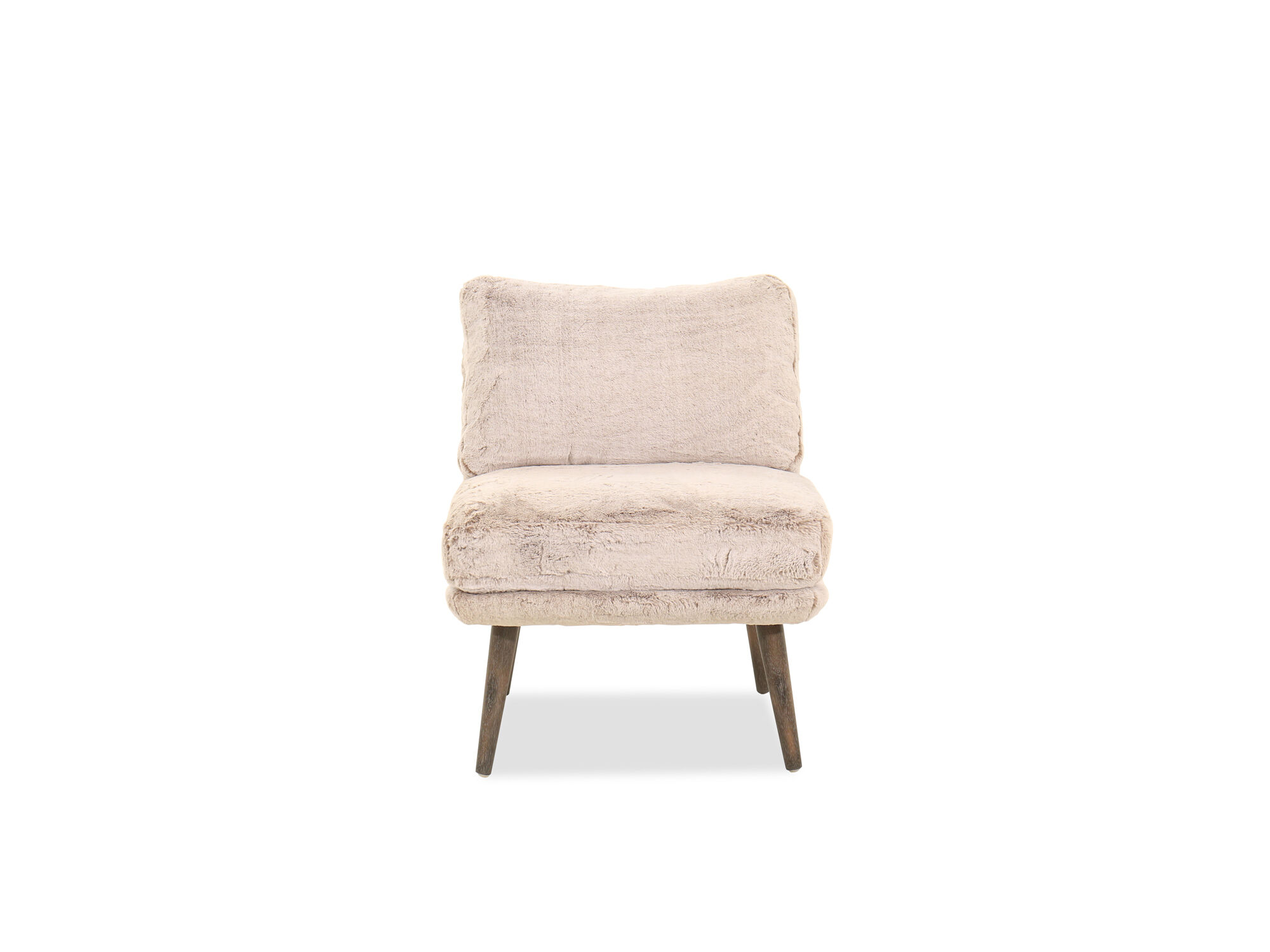 25 Contemporary Plush Accent Chair In Brown Mathis Brothers Furniture