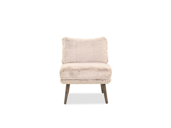 """25"""" Contemporary Plush Accent Chair in Brown"""