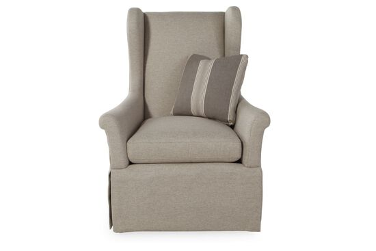 "Wing-Back European Classic 32"" Chair in Gray"