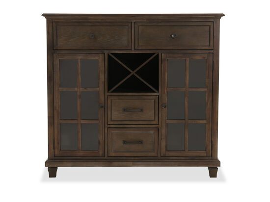 "Contemporary 52"" Storage Cabinet in Dark Oak"