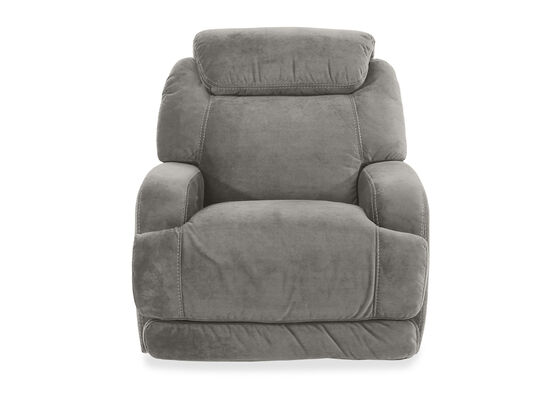 Casual Power Headrest Glider Recliner in Gray