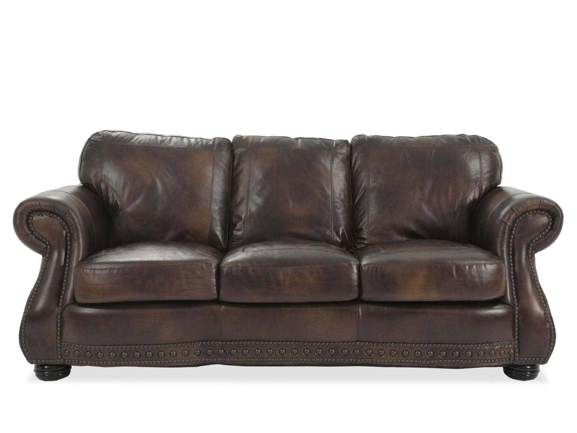 Traditional Leather 88 Sofa