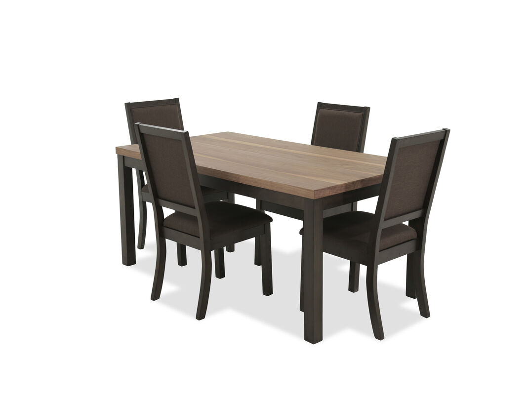 Stylish and comfortable this five piece dining set is constructed from high quality veneer wood for maximum durability