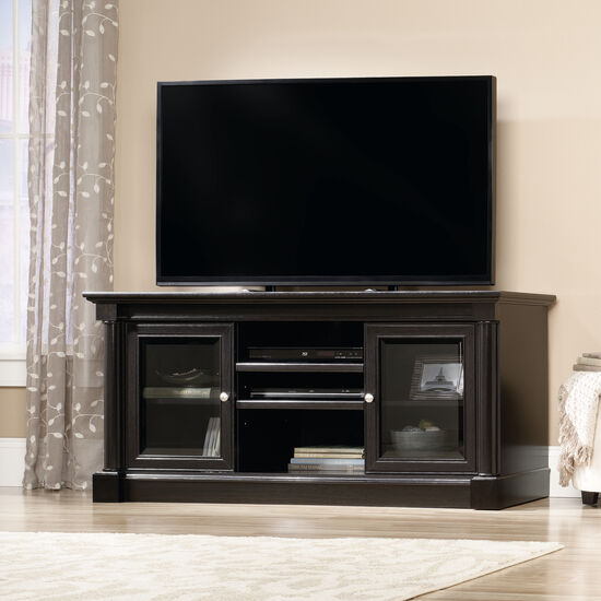Two-Framed Door Contemporary Entertainment Credenza in Wind Oak