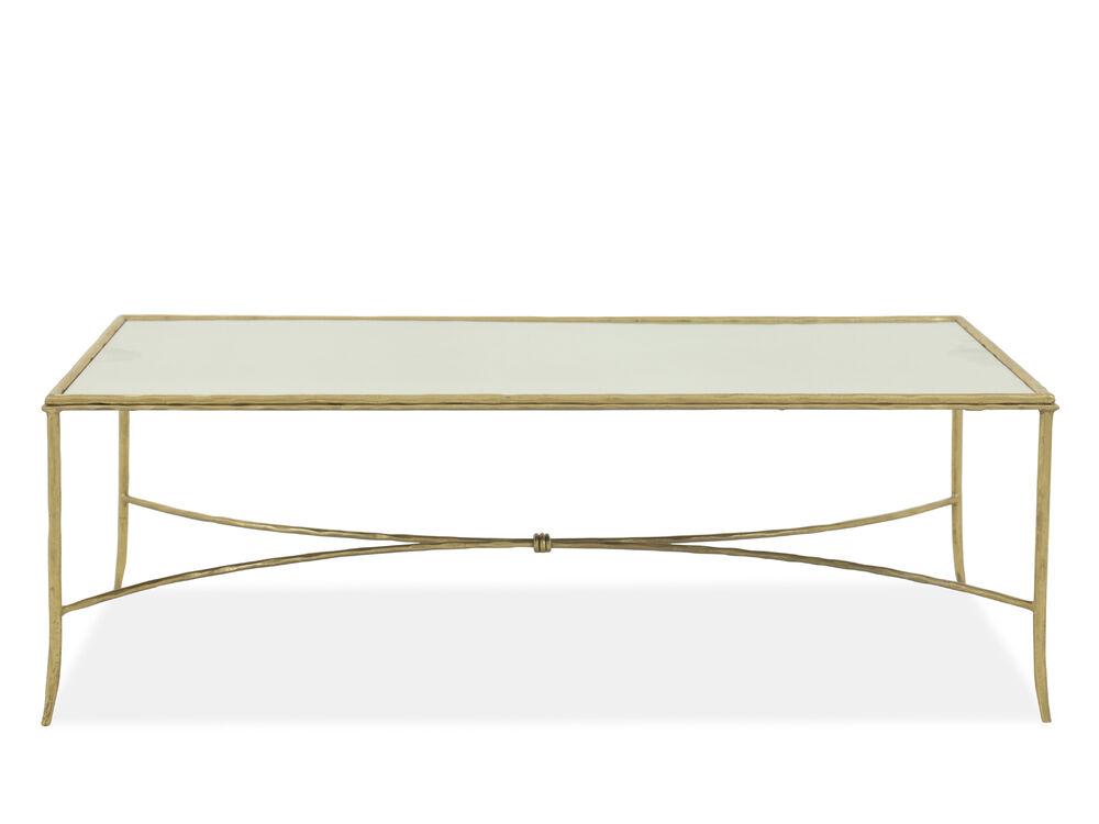 Rectangular Modern Cocktail Table In Gold Leaf